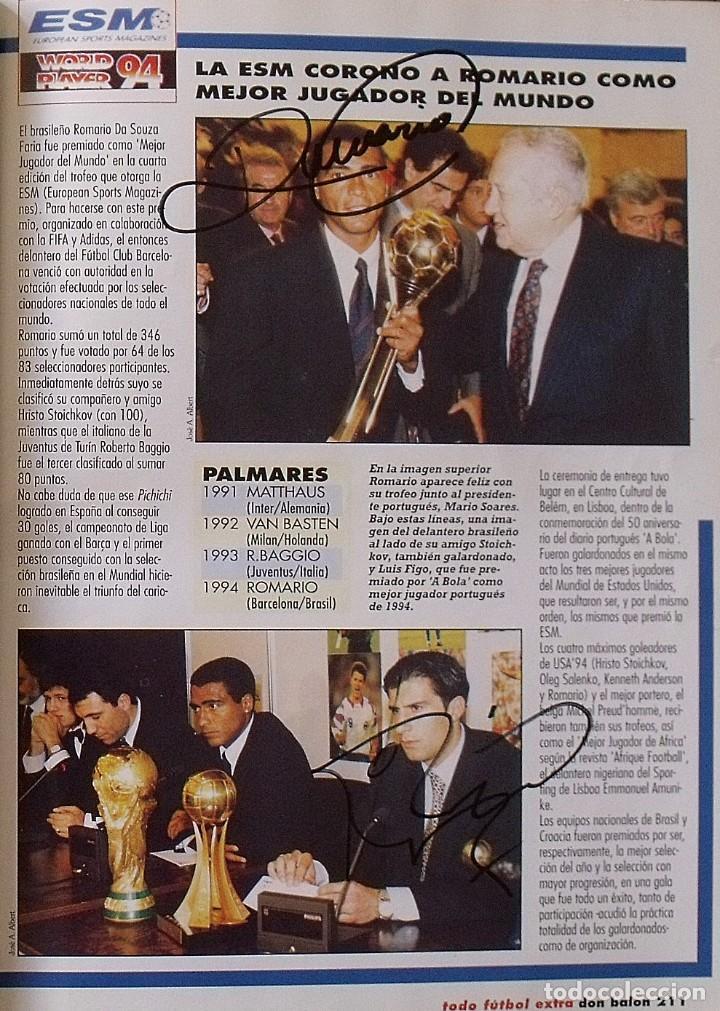Coleccionismo deportivo: Revista Todo Fútbol. Don Balón. 94-95. Con 290 autógrafos, firmas jugadores 1ª, 2ª división y Europa - Foto 32 - 268424544