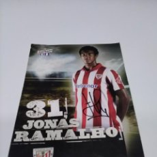 Coleccionismo deportivo: POSTAL AUTOGRAFIADA CERVEZA SAN MIGUEL JONÁS RAMALHO - ATHLETIC CLUB.. Lote 269841748