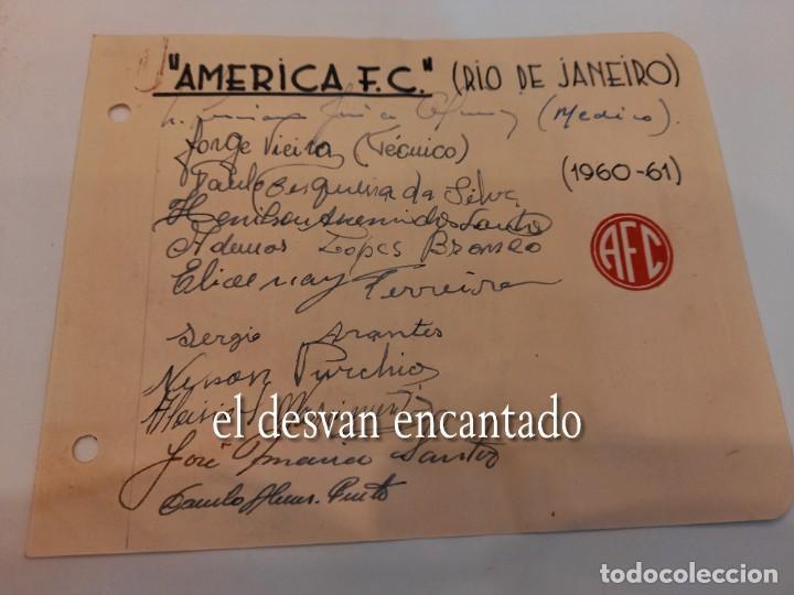 AMERICA FC (RIO DE JANEIRO). AUTÓGRAFOS ORIGINALES (1960-61) (Coleccionismo Deportivo - Documentos de Deportes - Autógrafos)