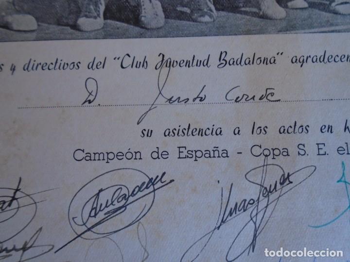 Coleccionismo deportivo: (F-210700)HOMENAJE C.B.JOVENTUD BADALONA CAMPEON COPA S.E.GENERALISIMO 1958-DEDICADA A JUSTO CONDE - Foto 7 - 273185858