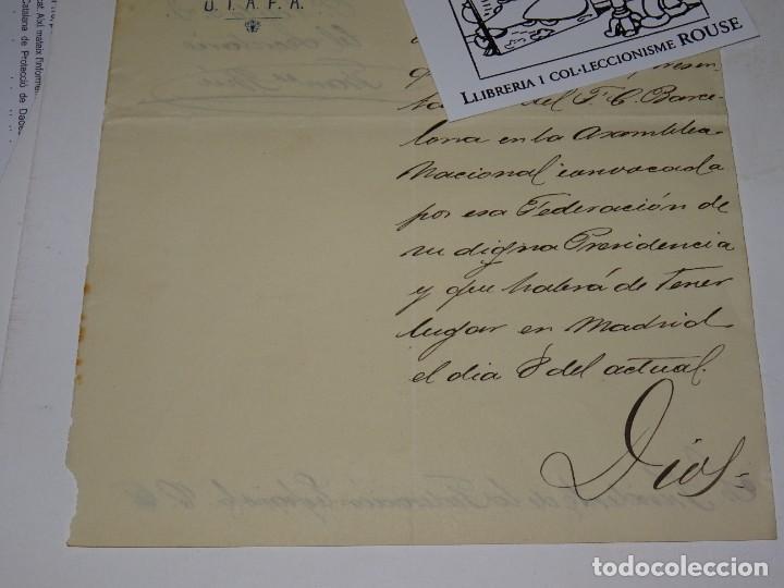 Coleccionismo deportivo: Espectacular Carta Original del FC Barcelona Fimada por Hans Gamper y Francesc Brú, Año 1911 - Foto 6 - 274227283