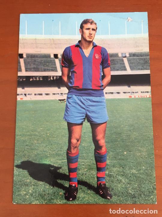 CARLES REXACH FUTBOL CLUB BARCELONA POSTAL ORIGINAL CON AUTOGRAFO (Coleccionismo Deportivo - Documentos de Deportes - Autógrafos)