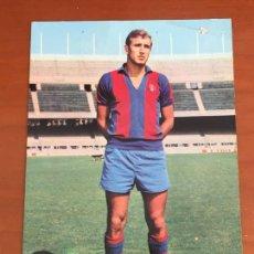 Coleccionismo deportivo: CARLES REXACH FUTBOL CLUB BARCELONA POSTAL ORIGINAL CON AUTOGRAFO. Lote 274228858