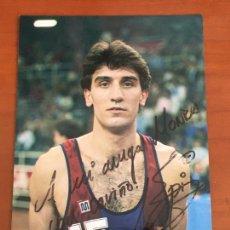 Coleccionismo deportivo: EPI JUAN ANTONIO SAN EPIFANIO BARCELONA POSTAL ORIGINAL CON AUTOGRAFO BALONCESTO. Lote 274228953