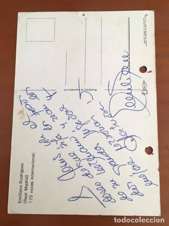 Coleccionismo deportivo: emiliano rodriguez real madrid postal original con autografo baloncesto - Foto 2 - 274229083