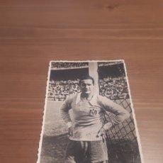 Colecionismo desportivo: FOTO POSTAL FIRMADA GUARDAMETA IGNACIO EIZAGUIRRE SELECCIÓN ESPAÑOLA AÑOS 40. Lote 274911473