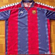 Coleccionismo deportivo: CAMISETA F. C. BARCELONA. 1992-1993. DREAM TEAM. 20 AUTÓGRAFOS, AUTOGRAPHS, FIRMAS. MATCH WORN KAPPA. Lote 276009748