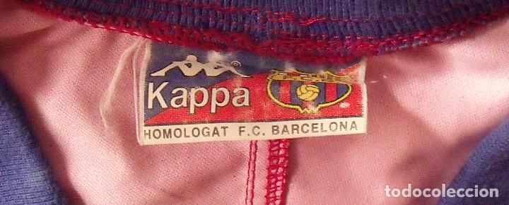 Coleccionismo deportivo: Camiseta F. C. Barcelona. 1992-1993. Dream Team. 20 autógrafos, autographs, firmas. Match worn Kappa - Foto 3 - 276009748