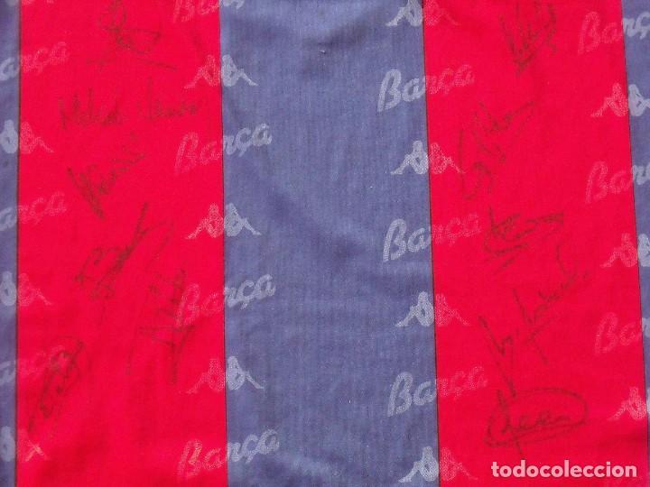 Coleccionismo deportivo: Camiseta F. C. Barcelona. 1992-1993. Dream Team. 20 autógrafos, autographs, firmas. Match worn Kappa - Foto 6 - 276009748