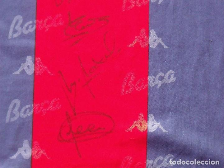 Coleccionismo deportivo: Camiseta F. C. Barcelona. 1992-1993. Dream Team. 20 autógrafos, autographs, firmas. Match worn Kappa - Foto 7 - 276009748