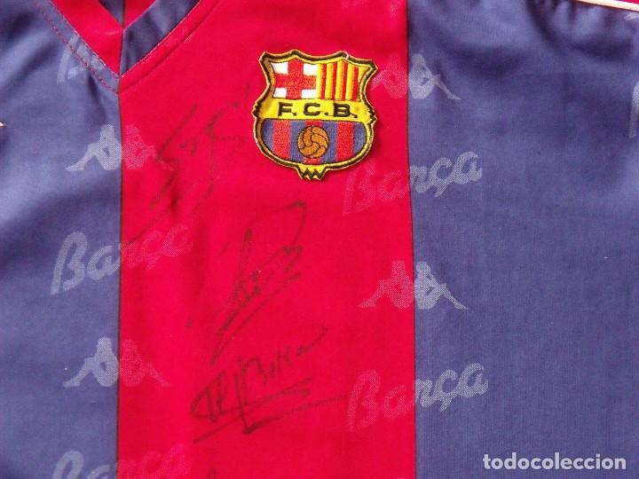 Coleccionismo deportivo: Camiseta F. C. Barcelona. 1992-1993. Dream Team. 20 autógrafos, autographs, firmas. Match worn Kappa - Foto 9 - 276009748