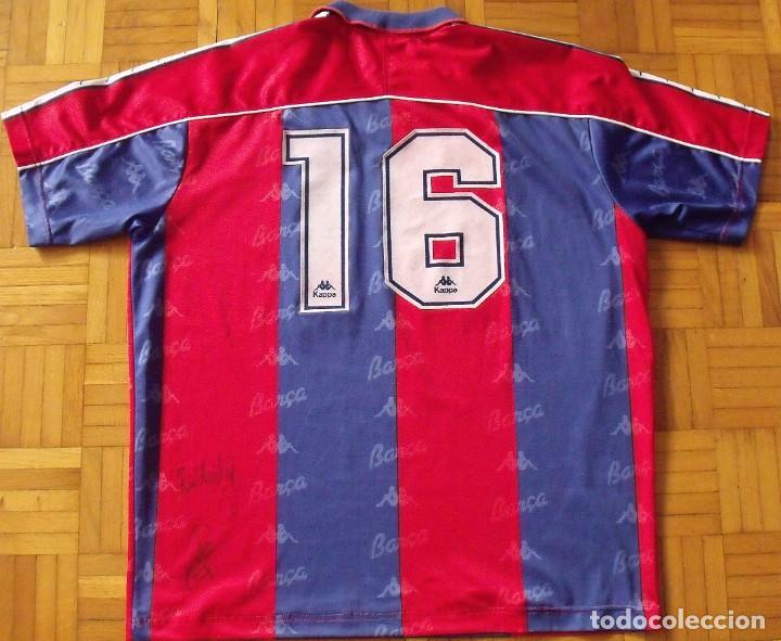 Coleccionismo deportivo: Camiseta F. C. Barcelona. 1992-1993. Dream Team. 20 autógrafos, autographs, firmas. Match worn Kappa - Foto 13 - 276009748