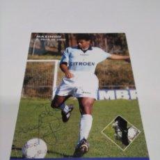 Coleccionismo deportivo: POSTAL AUTOGRAFIADA MAZINHO - CELTA DE VIGO.. Lote 277247468