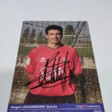 Coleccionismo deportivo: POSTAL AUTOGRAFIADA LEKUMBERRI - OSASUNA.. Lote 277267543