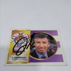 Coleccionismo deportivo: CROMO AUTOGRAFIADO V. ESPÁRRAGO - VALLADOLID.. Lote 277299203
