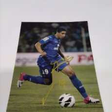 Coleccionismo deportivo: FOTOGRAFÍA AUTOGRAFIADA BARRADA - GETAFE.. Lote 277589793