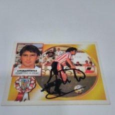Coleccionismo deportivo: CROMO AUTOGRAFIADO URIBARRENA - ATHLETIC CLUB.. Lote 277835908