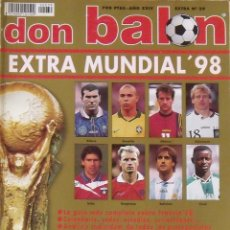 Coleccionismo deportivo: DON BALÓN. EXTRA MUNDIAL '98. 144 AUTÓGRAFOS, FIRMAS, AUTOGRAPHS JUGADORES DE FÚTBOL. 178 PÁGINAS.. Lote 286237513