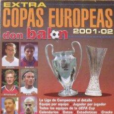 Coleccionismo deportivo: DON BALÓN. EXTRA COPAS EUROPEAS 2001-2002. 55 AUTÓGRAFOS, FIRMAS, AUTOGRAPHS JUGADORES DE FÚTBOL.. Lote 286239098