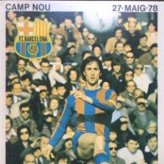 Coleccionismo deportivo: 1978 JOHAN CRUYFF FIRMA CON COA. Lote 286934563