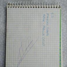 Coleccionismo deportivo: AUTOGRAFO CICLISTA FRANCISCO CABELLO, KELME ARTIACH . VUELTA A ESPAÑA 96. Lote 287646723