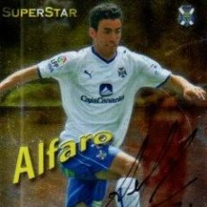 Coleccionismo deportivo: CROMO FIRMADO - AUTOGRAFO FUTBOL - ALFARO - TENERIFE. Lote 287971938