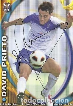 CROMO FIRMADO - AUTOGRAFO FUTBOL - DAVID PRIETO - TENERIFE (Coleccionismo Deportivo - Documentos de Deportes - Autógrafos)