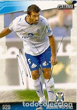 CROMO FIRMADO - AUTOGRAFO FUTBOL - MANOLO MARTINEZ - TENERIFE (Coleccionismo Deportivo - Documentos de Deportes - Autógrafos)
