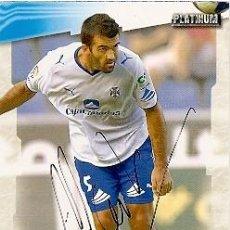 Coleccionismo deportivo: CROMO FIRMADO - AUTOGRAFO FUTBOL - MANOLO MARTINEZ - TENERIFE. Lote 287972138
