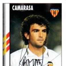 Coleccionismo deportivo: CROMO FIRMADO - AUTOGRAFO FUTBOL - CAMARASA - VALENCIA. Lote 288143238