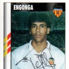 Coleccionismo deportivo: CROMO FIRMADO - AUTOGRAFO FUTBOL - ENGONGA - VALENCIA. Lote 288143473