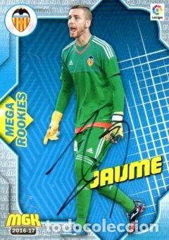 CROMO FIRMADO - AUTOGRAFO FUTBOL - JAUME - VALENCIA (Coleccionismo Deportivo - Documentos de Deportes - Autógrafos)