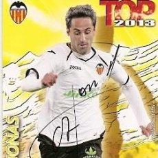 Coleccionismo deportivo: CROMO FIRMADO - AUTOGRAFO FUTBOL - JONAS - VALENCIA. Lote 288143883