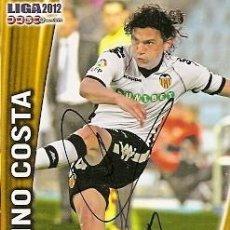 Coleccionismo deportivo: CROMO FIRMADO - AUTOGRAFO FUTBOL - TINO COSTA - VALENCIA. Lote 288144713