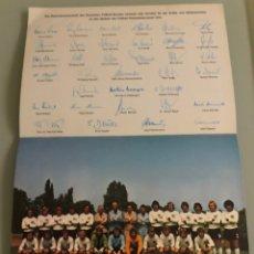 Coleccionismo deportivo: 1974 MÚNICH MUNDIAL FÚTBOL FIRMAS SELECCIÓN ALEMANA. Lote 288308853