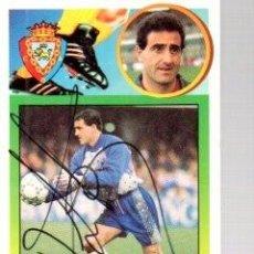 Coleccionismo deportivo: CROMO FIRMADO - AUTOGRAFO FUTBOL - ROBERTO - OSASUNA (PORTERO). Lote 288349988
