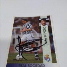 Coleccionismo deportivo: CROMO AUTOGRAFIADO DE PEDRO - REAL SOCIEDAD.. Lote 288677408