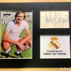 Coleccionismo deportivo: REAL MADRID ULI STIELIKE AUTOGRAFO ORIGINAL. Lote 288963958