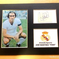 Coleccionismo deportivo: REAL MADRID JOSÉ MARTINEZ PIRRI AUTOGRAFO ORIGINAL. Lote 288967393