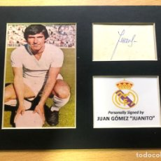 Coleccionismo deportivo: REAL MADRID JUAN GÓMEZ JUANITO AUTOGRAFO ORIGINAL. Lote 288969293