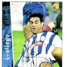 Coleccionismo deportivo: CROMO FIRMADO - AUTOGRAFO FUTBOL - GALLEGO - RECREATIVO HUELVA. Lote 293938438