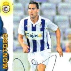 Coleccionismo deportivo: CROMO FIRMADO - AUTOGRAFO FUTBOL - MONTORO - RECREATIVO HUELVA. Lote 293939178