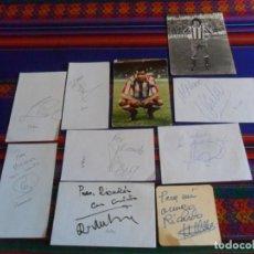 Coleccionismo deportivo: ATLÉTICO DE MADRID AUTÓGRAFO JESÚS GIL ANTIC ABEL VIERI KIKO PAUNOVIC JARO PRODAN LUIZ PEREIRA.. Lote 296589333
