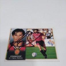 Coleccionismo deportivo: CROMO AUTOGRAFIADO STANKOVIC - MALLORCA.. Lote 297172848