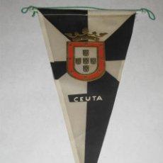 Coleccionismo deportivo: BANDERÍN DE TELA, AÑOS 60. CEUTA. FÚTBOL. Lote 26542479