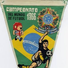 Coleccionismo deportivo: BANDERIN FUTBOL MUNDIAL INGLATERRA 1966 BRASIL. Lote 23106627