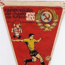Coleccionismo deportivo: BANDERIN FUTBOL MUNDIAL INGLATERRA 1966 RUSIA 1. Lote 26885056