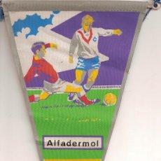 Coleccionismo deportivo: BANDERIN DE FUTBOL DE LA COPA DEL MUNDO DE 1966 CON PUBLICIDAD DEL MEDICAMENTO ALFADERMOL. Lote 26303084