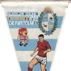 Collectionnisme sportif: CAMPEONATO MUNDIAL DE FÚTBOL DE 1966 - BANDERÍN DE URUGUAY. Lote 23050393