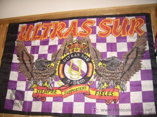 BANDERA ULTRAS SUR (Coleccionismo Deportivo - Banderas y Banderines de Fútbol)